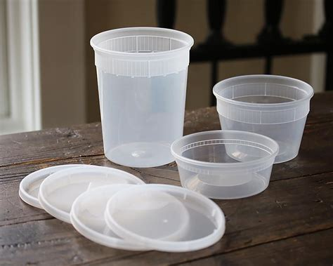 Clear Plastic Containers (set of 5) – Cassandra's Kitchen
