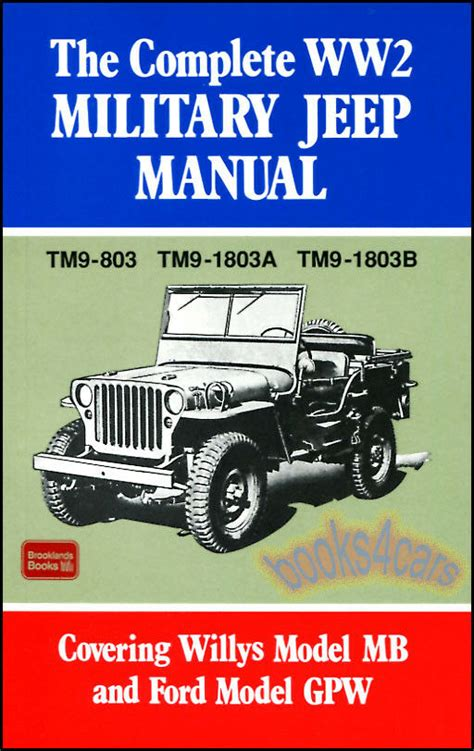 JEEP SHOP MANUAL SERVICE REPAIR MILITARY WILLYS BOOK WW2