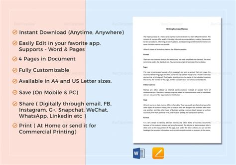 Memo Templates – 22+ Free Word, PDF Documents Download