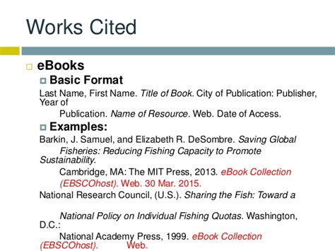 Research & Citations - EBSCO eBooks - Libraries at Houston