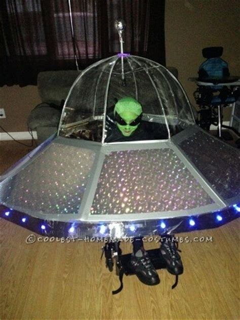 Coolest Alien in a UFO Costume for a Wheelchair