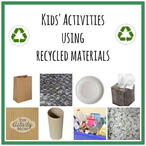 The Activity Mom - Kids' Activities using Recycled