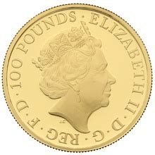 2018 1oz Gold Proof Red Dragon - Queen's Beast - £2,367