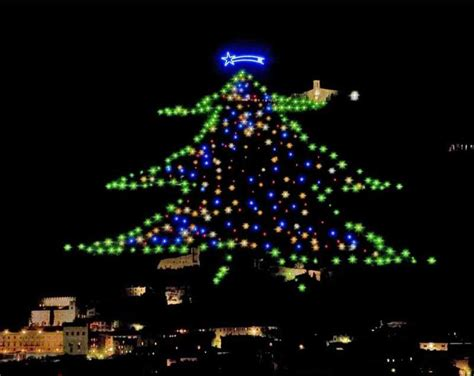 Gubbio Christmas Tree - Let's Cook in Umbria