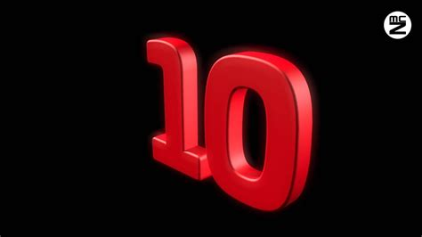 COUNTDOWN 10] | Free Number From 10 to 0 - Timer - Conto