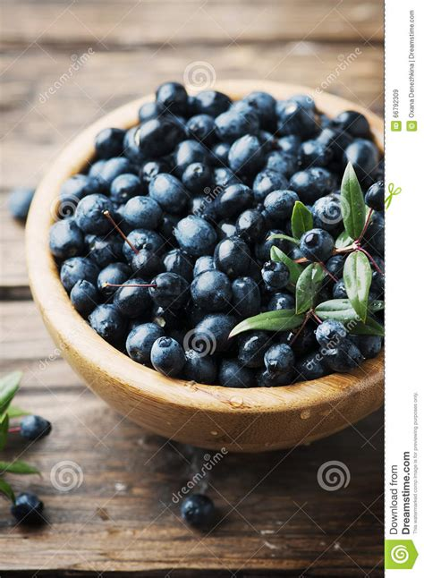 Myrtle Berry On The Wooden Table Stock Image - Image of