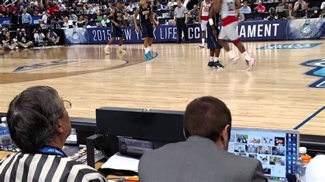 Guy at Scorer's Table of ACC Basketball Tournament