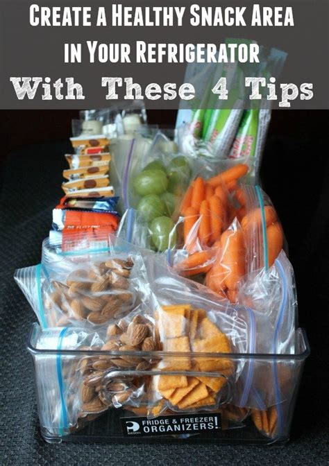 Create a Healthy Snack Area in Your Refrigerator