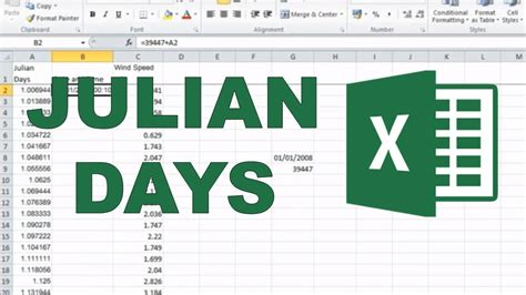 Converting Julian days into date and time in excel - YouTube