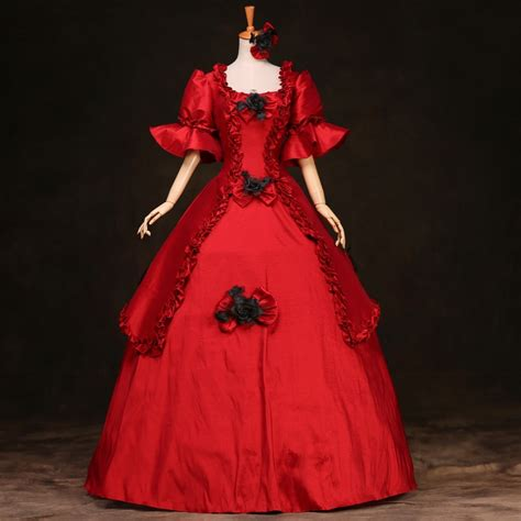 Hot Sale Victorian Gothic Fairy Princess Brocade Ball Gown