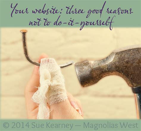 Three reasons not to have a do-it-yourself website