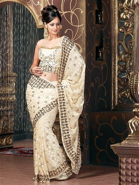Latest Indian Saree designs 2012 - Party wear embroidered