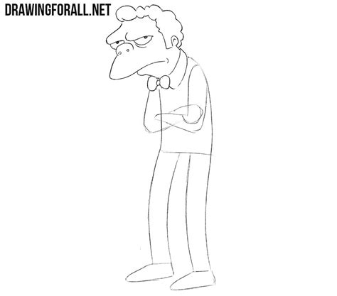 How to Draw Moe from the Simpsons   Drawingforall
