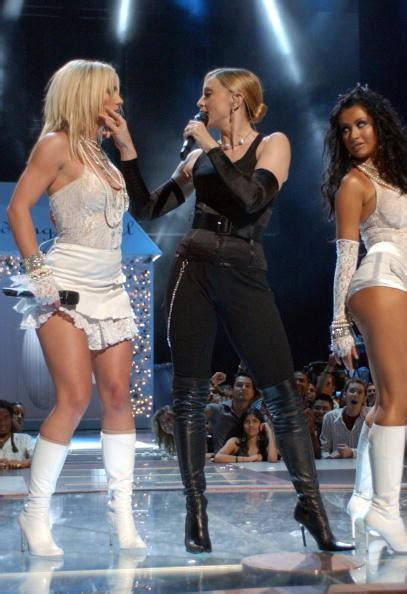 Madonna, Britney Spears, And Christina Aguilera's Kiss