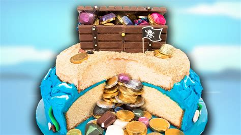 How to Make a Buried Treasure Cake with a Kit Kat Chest