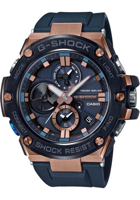 G-Shock G Steel Connected Solar Navy Rose Gold | Watches