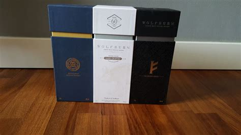 Wolfburn- 3 Bottles : Kylver, Rigby, A little something
