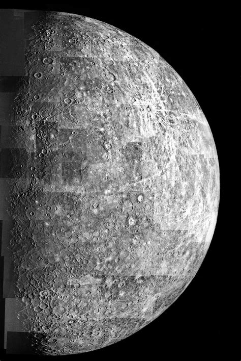 Space Images | Photomosaic of Mercury - Outbound View