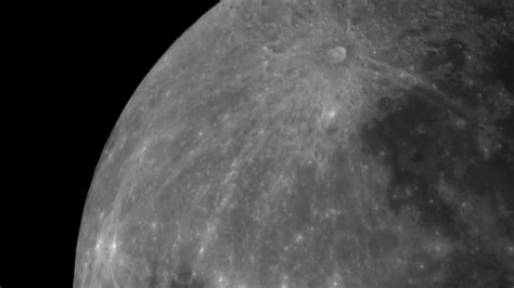 Live view of the moon with a Meade 90mm f8