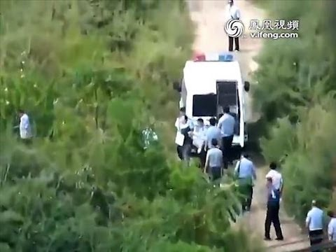 China broadcasts chilling footage of last moments of