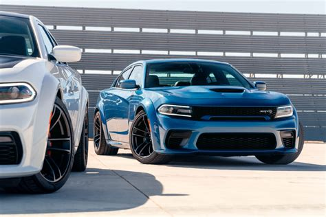 2020 Dodge Charger Scat Pack Widebody (Left) and 2020