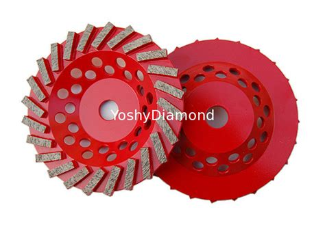 """7"""" Double Row Diamond Cup Grinding Wheel For Stone Tools"""
