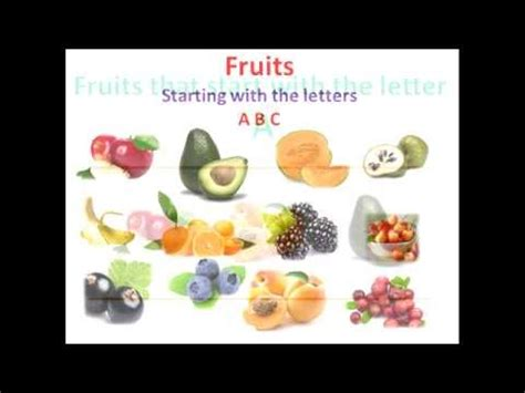 Fruits Starting With The Letters ABC - YouTube