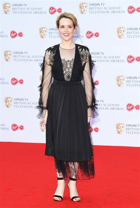 BAFTA TV Awards: The Crown's Claire Foy goes braless in