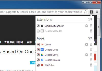 Easily Group And Manage Apps & Extensions From Chrome Toolbar