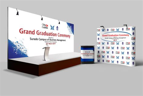 Design awesome backdrop, x stand, roll up banners