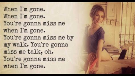 Anna Kendrick - When I'm Gone (The Cup Song) Lyrics - YouTube
