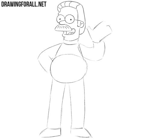 How to Draw Ned Flanders   Drawingforall