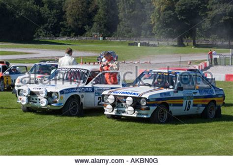 Ford Escort Mk1 competition cars on display Stock Photo